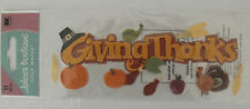 Jolee's Boutique ~GIVING THANKS~ Title Dimensional Stickers THANKSGIVING TURKEY