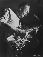 """LES PAUL Jazz, Blues, GUITAR LEGEND, POSTER, Music History, Photo, 14x10"""""""