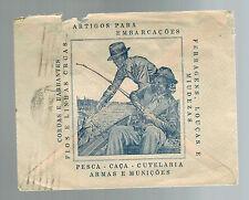 1943 Brazil Casa del Guerra Illustrated Advertising Cover to Usa Uncensored