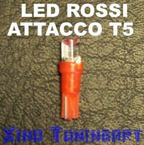 1 LED ROSSO T5 INVERTITI LUCI LAMPADINE per AUTO CRUSCOTTO QUADRO STRUMENTI 12V