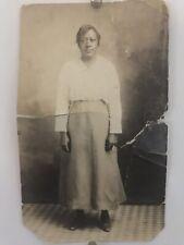 Americana Formidable African American Woman Photo Black White 1916 Ww1 W5