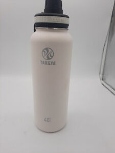 Takeya Originals Vacuum-Insulated Stainless Steel Water Bottle, 40oz, White,USED