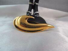 Vintage NAPIER GOLD CHUNKY MODERNIST DESIGN BROOCH PIN, Shiny, Signed
