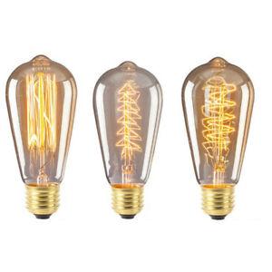Antique Industrial Retro Edison Flexible LED Bulb Spiral Filament Light Lamp E27
