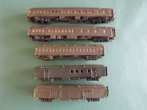 Vintage Lot of 5 HO Gauge Passenger Train Cars Made from Kits