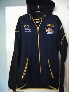 leeds rhinos hooded rugby league training track jacket size xl good cond
