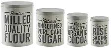 Mason Cash Set of 4 Retro Kitchen Storage Tins Containers Cocoa Sugar Flour Tin
