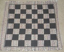 TIC TAC TOE REVERSIBLE CHECKERS GAME RUG HOME DECOR PLAY DAYCARE CHILDCARE #1-22