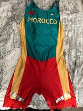 Mens Morocco Track And Field 2004 Olympics Nike Speedsuit skinsuit - Large