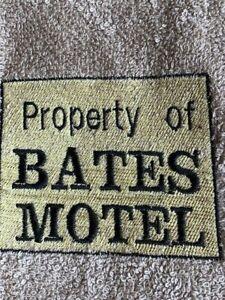 NEW Tan  Bathroom Hand Towel  Property of BATES MOTEL  Embr free ship