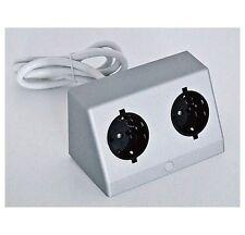 Doppel-Einbausteckdose silber / Steckdosen Kombination