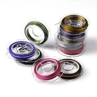 10Rolls Beading Wire Steel Tiger Tail Multi-Color Bead Stringing Thread 10m/roll