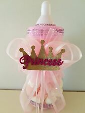 "Princess Crown Centerpiece Bottle Large 12"" Baby Shower Piggy Bank Girl Decor"