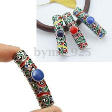 3Pcs Alloy Colorful Dreadlock Dread Beads Tube Jewelry Accessories 7.5mm Hole