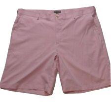 Peter Millar Crown Sport Flat Front Golf Shorts Pink Pinstripe Men's Size 42