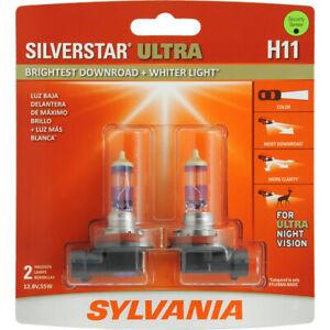 SYLVANIA H11 SilverStar Ultra High Performance Halogen Headlight Bulb, 2 Bulbs