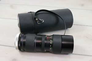 Vivitar 85mm-205mm f3.8 Tele-Zoom  Canon FD Mount W/ Leather case For Repair