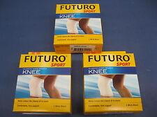 3 Pack of Futuro Sport Elastic Knee Braces Size large