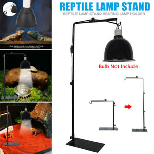 Reptile Lamp Stand Adjustable Metal Lamp Light Holder Stand Bracket for Reptile