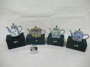 Trade Aid Plus Chinese Enamel Hand Painted Collectable Teapots C844