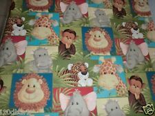 JUNGLE BABIES fabric PATCHWORK JUNGLE BABIES PATTY REED cotton fabric BTY NEW