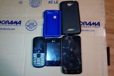 """LOT OF 3 TRACFONES 1 Alcatel One Touch Pop Icon 8GB  5'"""" 1 LG 1 ALCATEL SEE PICS"""