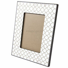 2 x White Shabby Chic 4 x 6 Free-standing Photo Frame Distressed Picture Vintage