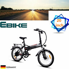 "EBike Folding Electric Mountain Bike 20"" Citybike Bicycle W/ Lithium-Ion Battery"