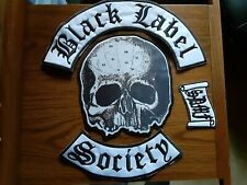 BLACK LABEL SOCIETY SET OF 4,SEW ON EMBROIDERED LARGE BACK PATCH