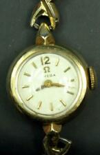 B 49. OMEGA VINTAGE LADIES DRESS WATCH 17 J CAL 481, PLAQUE 80 MICRON CASE WITH
