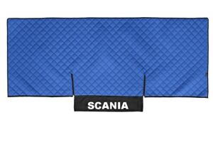 Truck Bed Cover PU Leather Bedspread for SCANIA G,P 2005-2016 Blue Coverlet