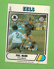 1976 SCANLENS RUGBY LEAGUE CARD #53  PHIL MANN, PARRAMATTA EELS