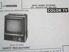 SONY KV-9000U MINI TELEVISION TV PHOTOFACT
