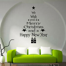 MERRY CHRISTMAS Words Mural Removable Wall Sticker Vinyl Decals Christmas Decor