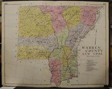 New York, New Century Atlas, 1912 Warren County, Authentic U1#14