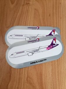 Hawaiian Airlines Airbus A321 neo Sticker BRAND NEW Set of 2