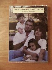 "BN Fridge Magnet Photo Frame 6"" x 4"" Clear Transparent (Birthday Gift Present)"