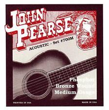 John Pearse 700M Phosphor Bronze 13-56 Medium Acoustic Guitar Strings