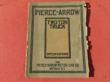 Pierce-Arrow 2 ton truck owners Manual / Specifications Booklet