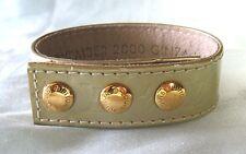 LOUIS VUITTON Leather Gold Snap Bracelet  Ginza Japan November 2000 lot 15s7