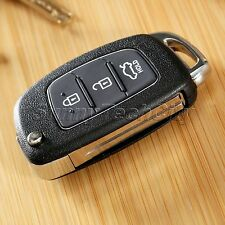 1x Keyless Entry Lock Remote 3 BTNs Folding Flip Key Case Shell Fob for Hyundai
