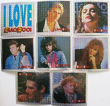 Ciao 2001 8 figurine stickers Madonna Bon Jovi Tony Hadley Joey Tempest A-Ha