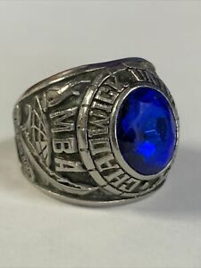 """stainless steel Jostens 1993 """"MBA"""" Chadwick Blue Stone Men's Class Ring size 9"""