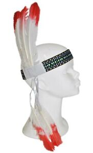 Indian Headband Headdress Native American Costume Accessory Adult Feathered