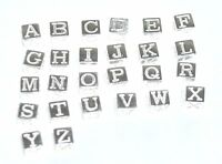 925 STERLING SILVER SQUARE CUBE LETTER ALPHABET INITIAL CHARM PENDANT A-Z CHARMS