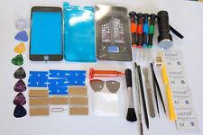 iPhone 7 Plus Negro Kit de Reparación Pantalla Vidrio Frontal, Marco Instalado