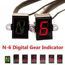 Great For Motorcycle Gear Indicator Display Light N-6 Speed Shift Lever Gauge