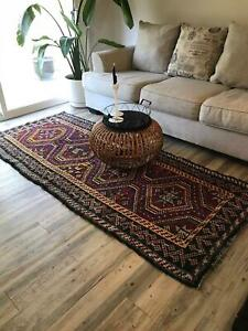 202x124 Vintage Kilim,Anatolian hand-woven carpet Turkish Kilim Antique Rug, Cotton Wool Carpet Living Room Carpet Bedroom Carpet