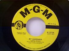 """CONNIE FRANCIS """"MY HAPPINESS / NEVER BEFORE""""  45"""