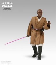 STAR WARS~MACE WINDU~JEDI MASTER~SIXTH SCALE FIGURE~LE 7500~SIDESHOW~MIB